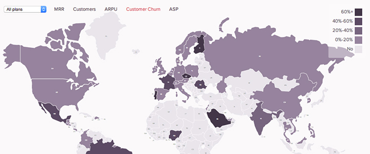 Heat map sales - ChartMogul Dashboard