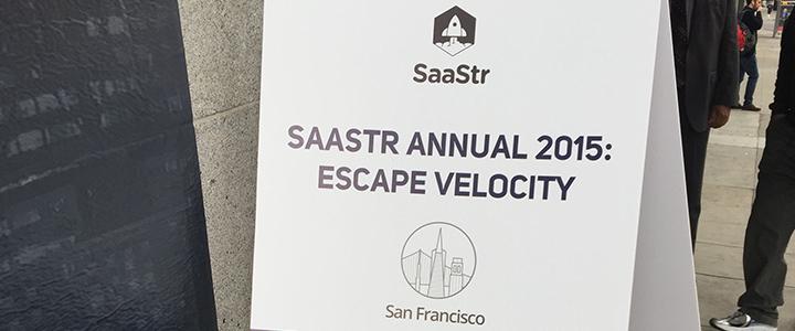 SaaStr Annual 2015: Escape Velocity