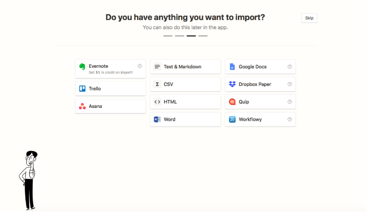 Data import from Notion