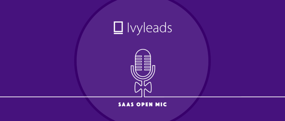 Cover SaaS Open Mic: Bjoern Zinssmeister, Founder of Ivyleads