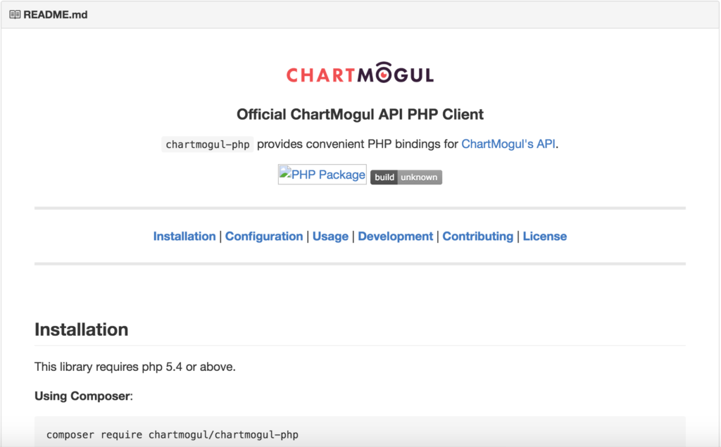ChartMogul PHP client