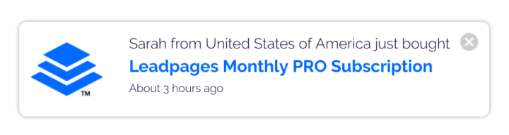 Leadpages social proof