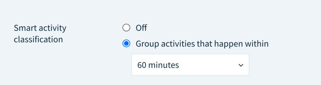 Smart activity classification