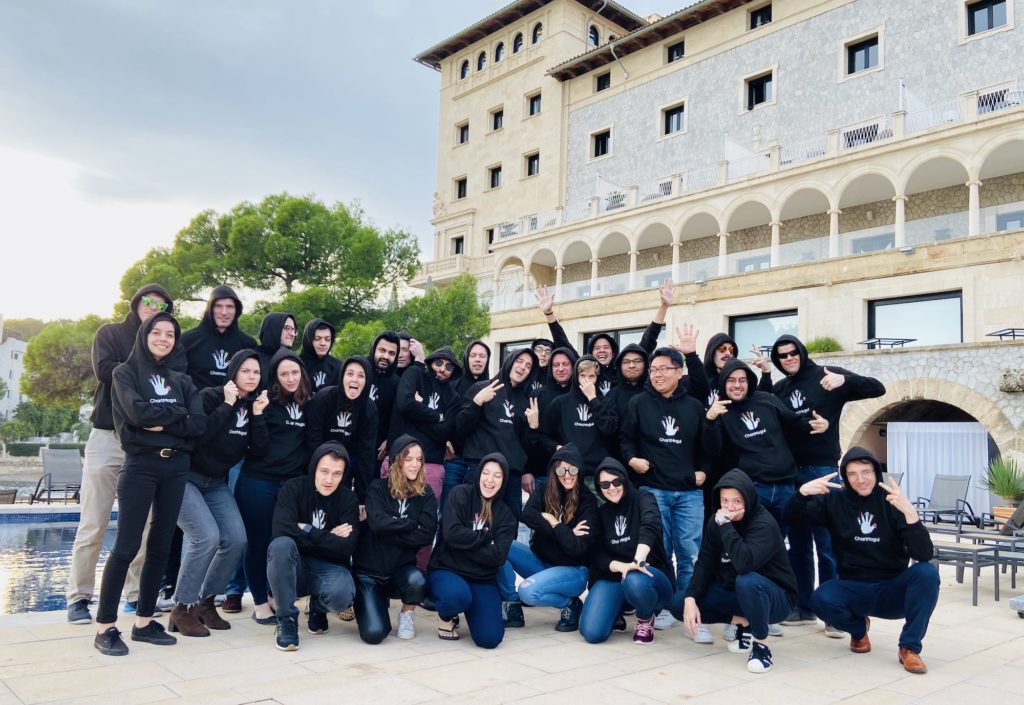 The (almost) full ChartMogul team at the 2019 offsite in Mallorca