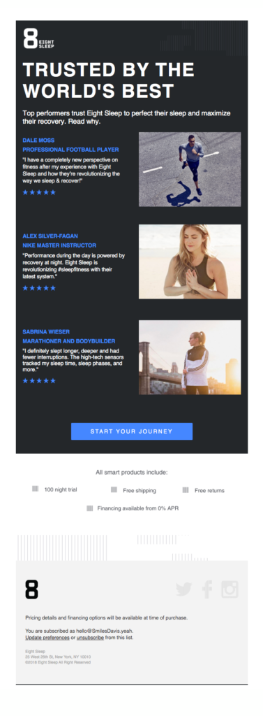 Social proof + email is a powerful combination