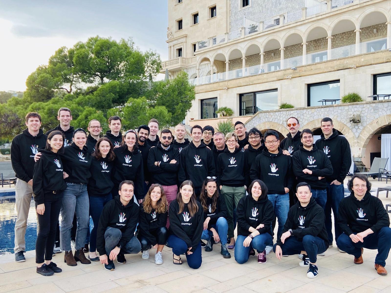 ChartMogul's team in Mallorca