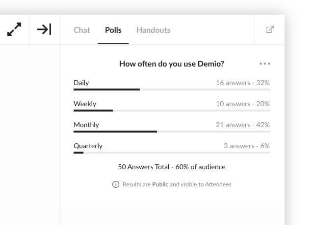 Webinar poll example