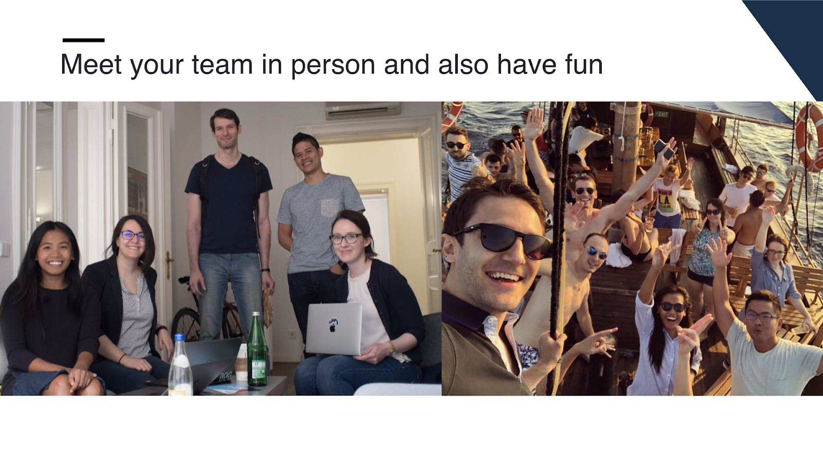 Meet your team in person and have fun