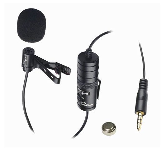 Vidpro lavalier external microphone