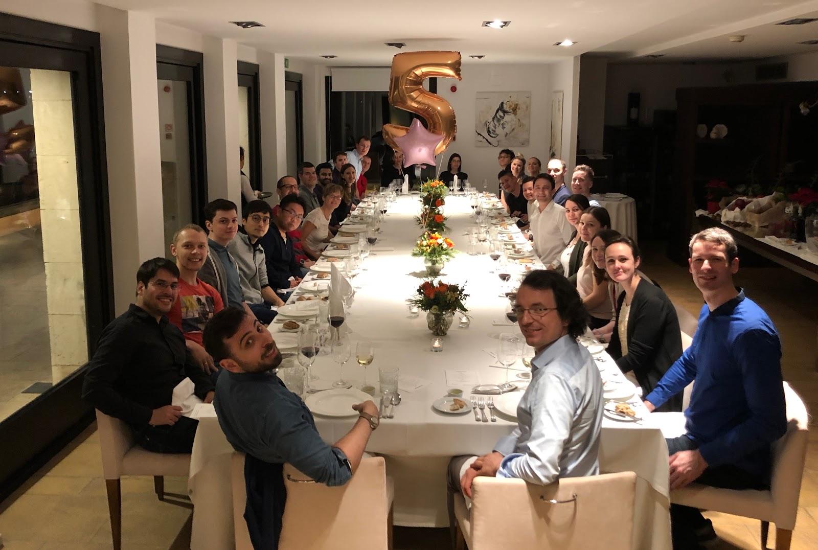 Celebrating ChartMogul's 5th birthday at our last offsite in Mallorca
