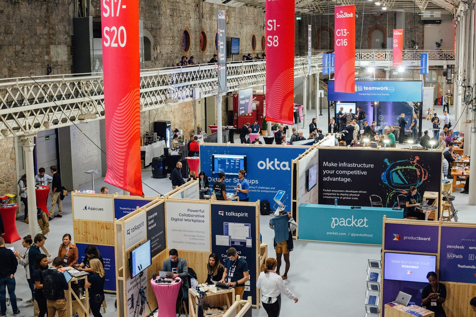 It is important to consider the scale of the hall where you will have your booth