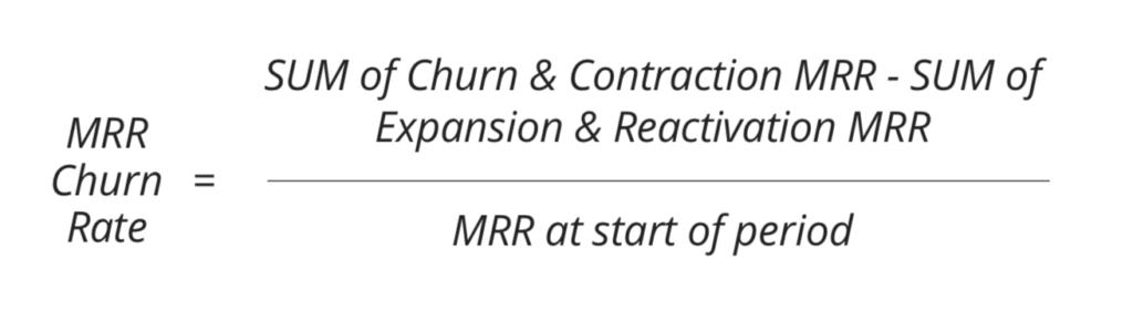 MRR churn rate formula