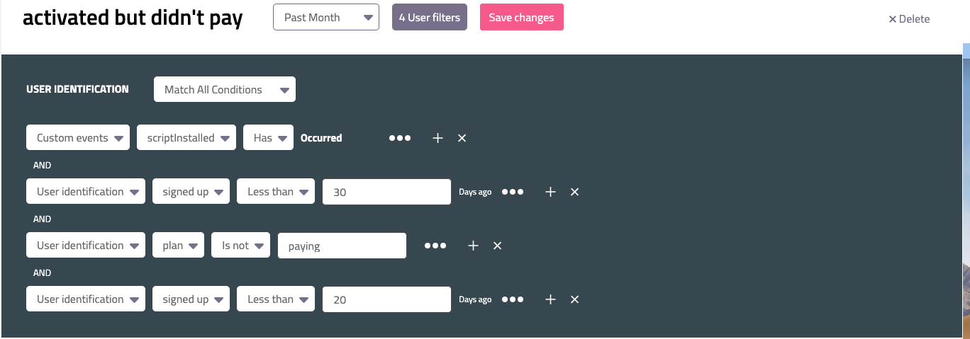 This analysis allows Userpilot to focus on those leads who are most likely to convert