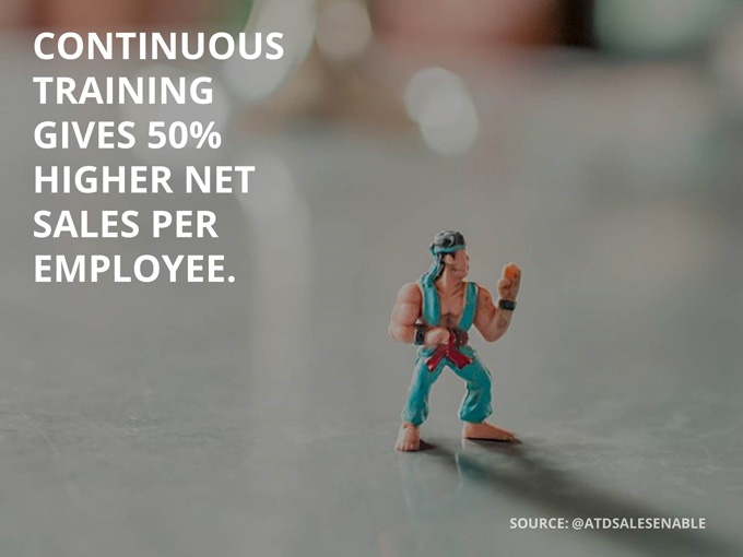 Sales knowledge management: Continuous training gives 50% higher net sales per employee