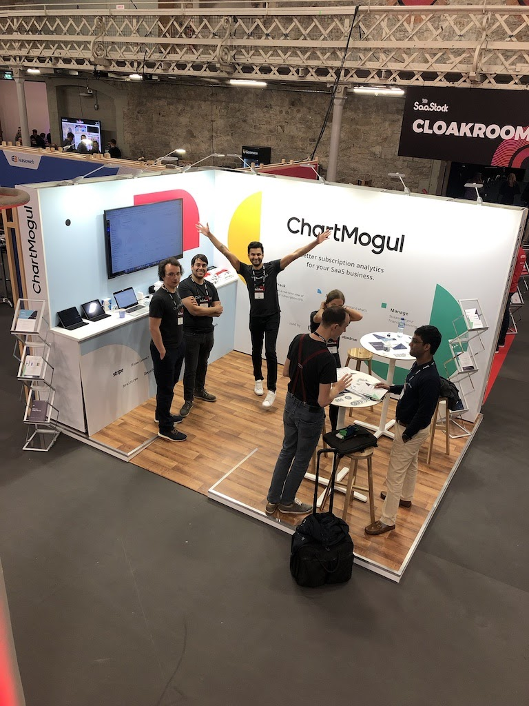 The view from the top of the tallest booth at SaaStock 2019