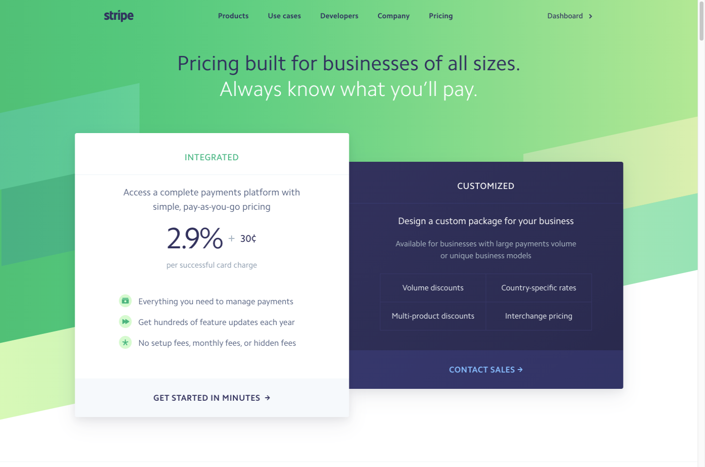 Why is Stripe so popular? Simple and transparent pricing has to do with it.