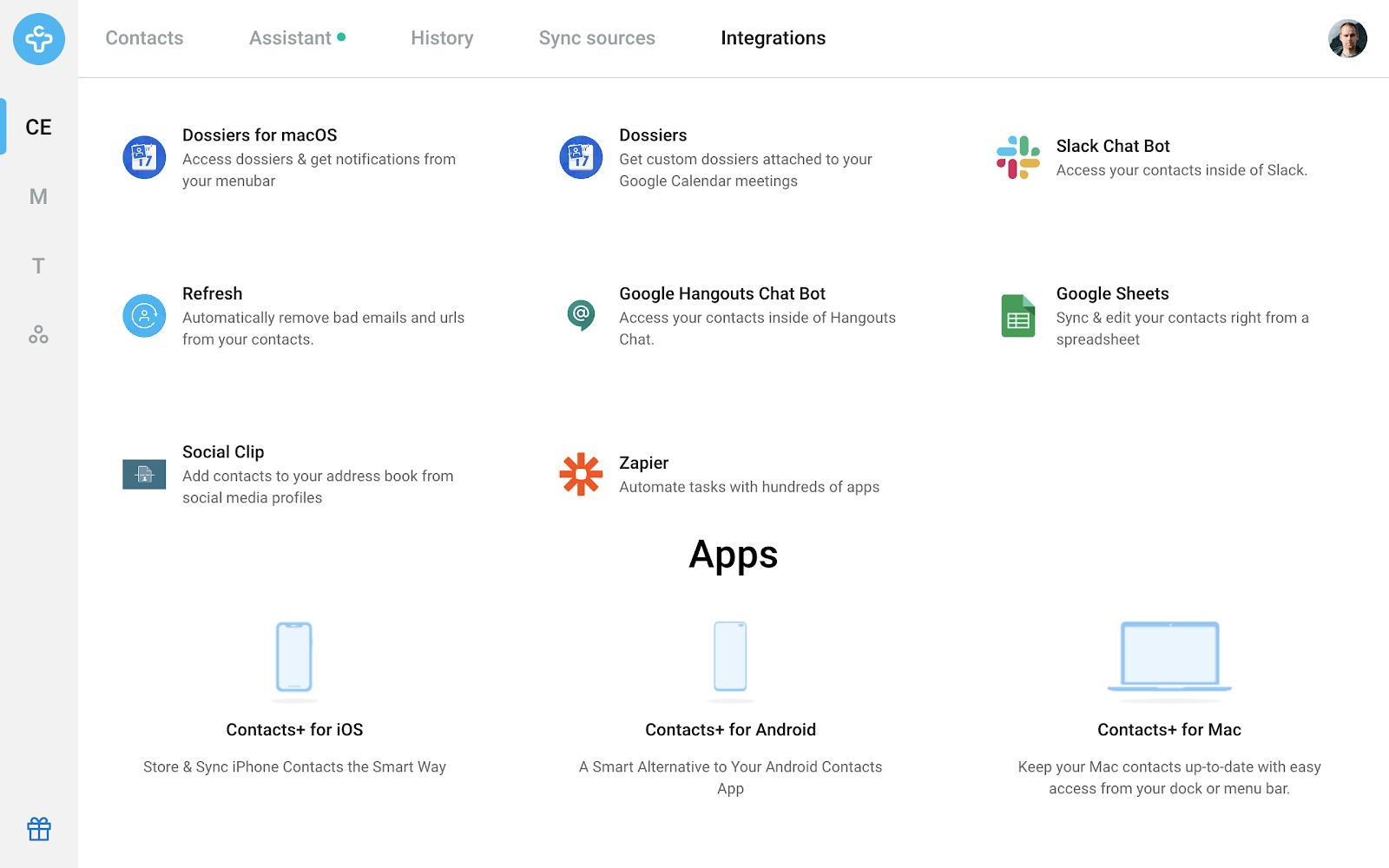 Contacts+ Integrations