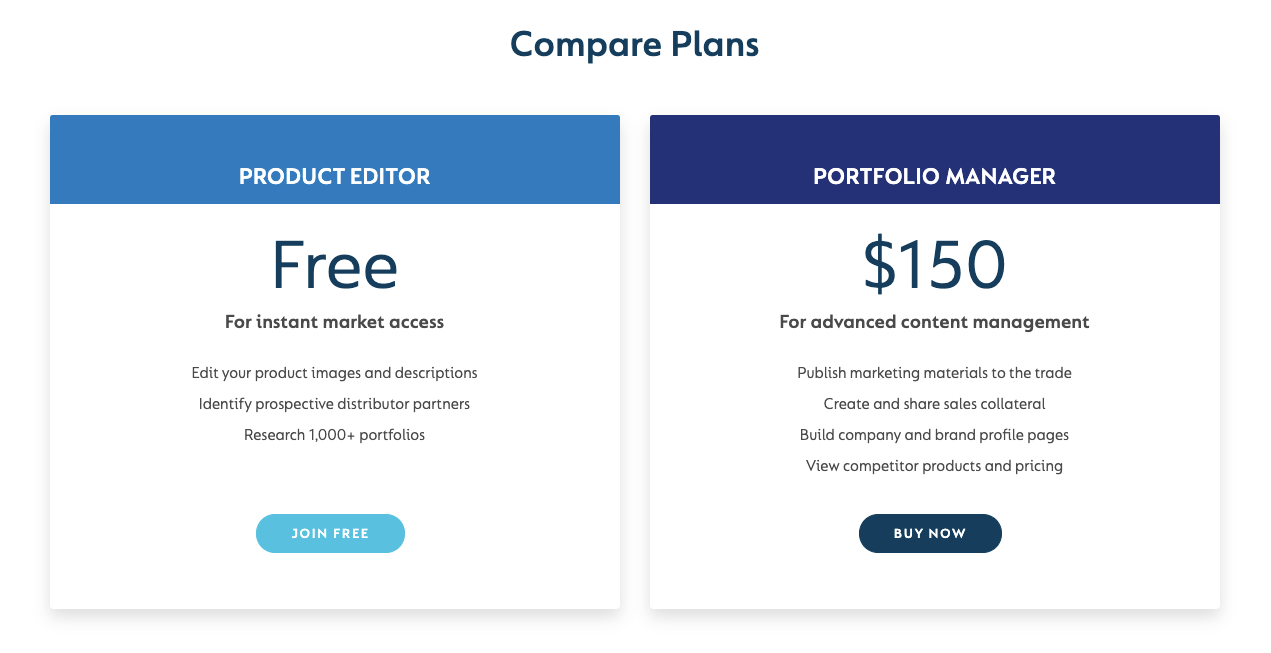 SevenFifty's free and premium plans