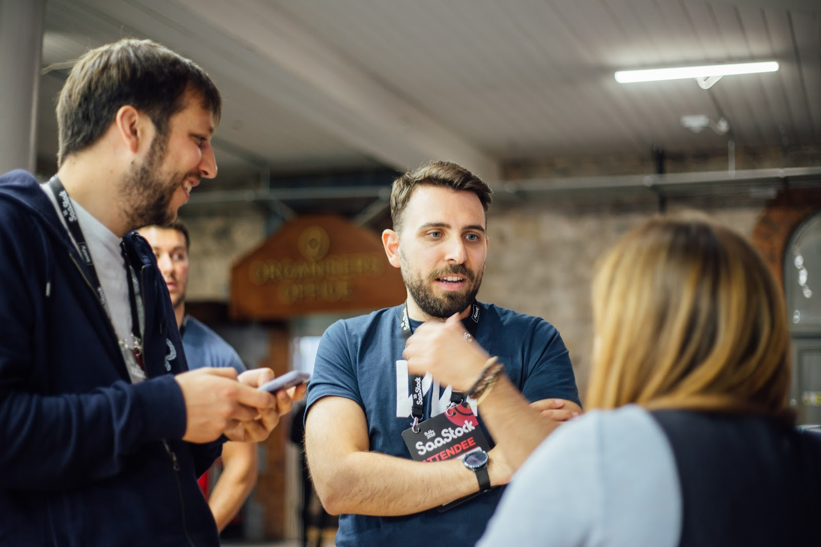 Marco, our head of engineering, talking to prospects at SaaStock 2018