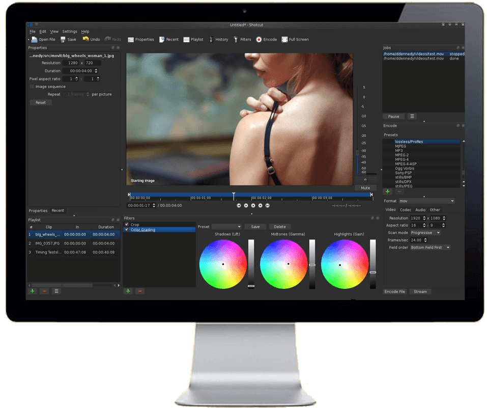 eLearning video production:  Shotcut