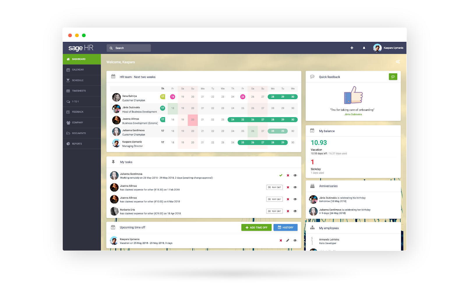 Sage HR product overview