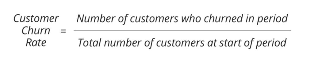 Customer churn rate formula
